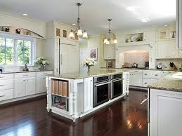 high cabinets with glass doors white porcelain tile backsplash