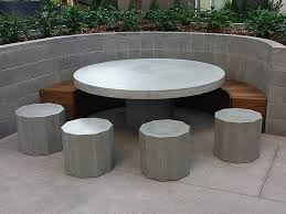 concrete and wood outdoor table ernsdorf design concrete fire pit bowls furniture and art yard
