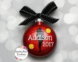 softball ornaments etsy