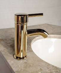 Gold Bathroom Faucet by Faucets Brass Pvd Round Single Lever Modern Bathroom Faucets
