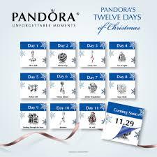 pandora twelve days of christmas gift set promotion be charming blog