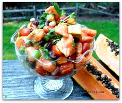 papaya three bean salad bursting with antioxidants u0026 enzymes