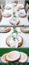 rustic wood slice plate chargers great idea tabledecor