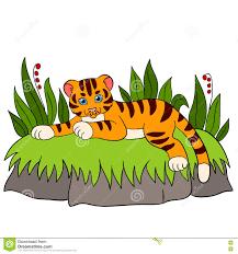 cartoon wild animals for kids tiger little cute baby tiger smile