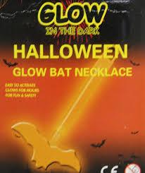 in the dark halloween glow stick pendant necklace orange bat