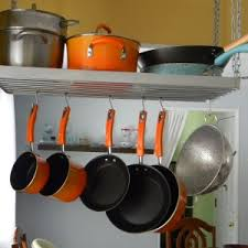 kitchen storage ideas for pots and pans decor cookware ideas and pots and pans rack for kitchen storage ideas