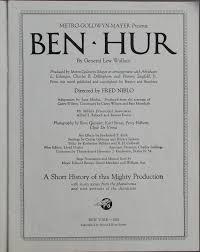 lot detail ben hur 1926 movie souvenir program and king of kings