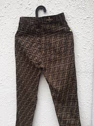 fendi vintage fendi zucca monogram size 26 casual pants for sale