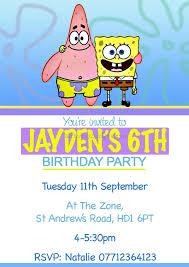 spongebob birthday invitations best birthday resource gallery