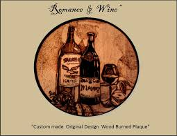 hand made wine u0026 grapes art wine and grapes wood burned plaques