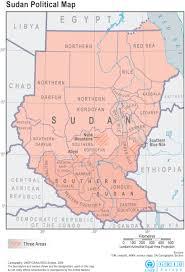 Map Of Sudan Product Detail