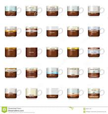 types of mugs types of coffee stock vector image of layout concept 26210412