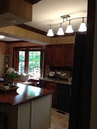 Fluorescent Kitchen Ceiling Light Fixtures Creative Fluorescent Kitchen Light Fixture Using Ceiling Track