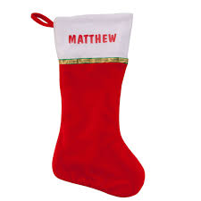 personalized christmas stocking personalized stocking miles kimball