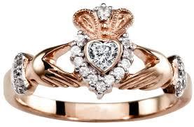 claddagh ring galway 10k 14k 18k gold diamond claddagh ring