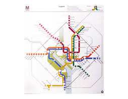 Washington Metro Map by Lance Wyman
