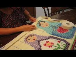 Latch Hook Rugs How To Bind Your Latch Hook Rug Youtube