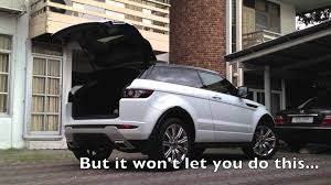 range rover evoque back range rover evoque remote tailgate closing mod youtube