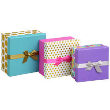 gift box bulk patterned square glittery nesting gift boxes at dollartree