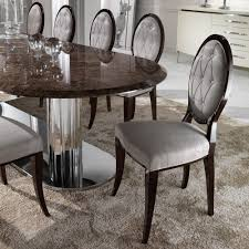 italian dining room furniture elegant oval button upholstered dining chair juliettes interiors
