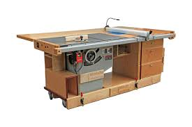 table saw mobile base ekho mobile workshop portable cabinet saw work bench and router