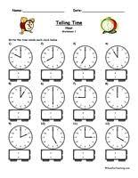 Havefunteaching Com Math Worksheets Telling Worksheets Teaching