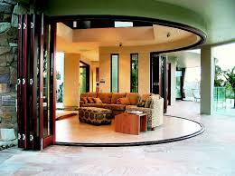 patio exterior folding glass patio doors with travertine tile