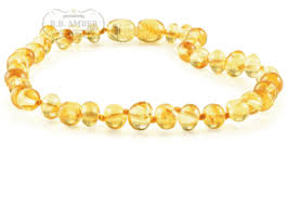 amber necklace images Baltic amber teething necklace for children screw clasp png