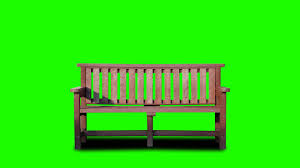 park bench in green screen free stock footage youtube