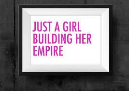 printable art business girl building empire instant download office art girl boss wall art