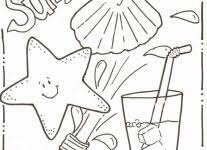 printable summer coloring pages wallpaper download