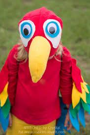 Easy Homemade Halloween Costumes For Kids Miss Bizi Bee Parrot Halloween Costume