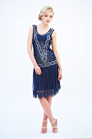 frock and frill zelda flapper dress in navy frockandfrill gatsby