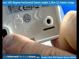 kanlux white plastic slick ip44 pir motion movement sensor 160