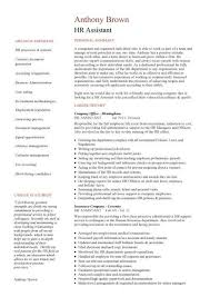 Hr Administrative Assistant Resume Sample Hr Administrator Resume Summary Resources Assistant Resume