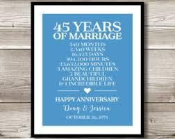 45 year anniversary gift 45th anniversary etsy