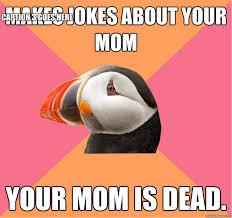 Puffin Meme - socially oblivious puffin memes quickmeme