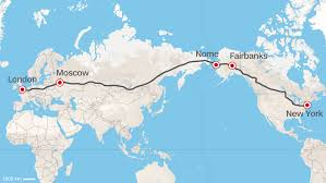 map usa russia road from europe to u s russia proposes superhighway cnn travel