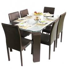 6 seater dining table and chairs emerald 6 seater glass top dining set woodys furniture