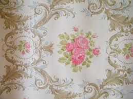 Shabby Chic Wallpapers by Vintage Shabby Chic Floral Wallpaper Sample By Textilesrus On Etsy