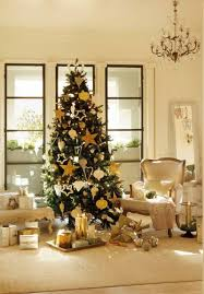 lovely christmas tree decorating ideas with gold and silver