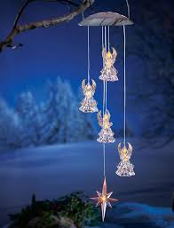 solar powered wind chime light solar powered lighted hanging angel outdoor porch patio wind chime
