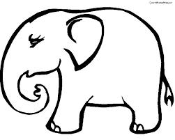 dessin de coloriage elephant à imprimer cp10876
