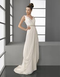 draped wedding dress wedding dress aire barcelona bridal gowns v neck draped