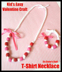 easy valentine u0027s kid craft t shirt necklaces from sixsistersstuff