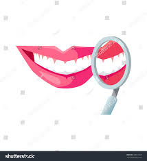 smile white tooth design flat dental stock vector 422011465