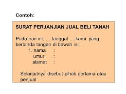 bahasa indonesia surat kuasa surat perjanjian ppt