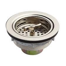 Kitchen Sink Basket Strainer Basket With Wing Nut Stopper 3 1 2 Kitchen