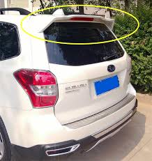 subaru roof spoiler for subaru forester 2013 2017 rear wing spoiler trunk boot wings