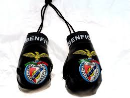 benfica soccer team black mini boxing gloves car auto mirror